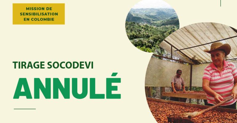 La Fondation SOCODEVI annule son tirage