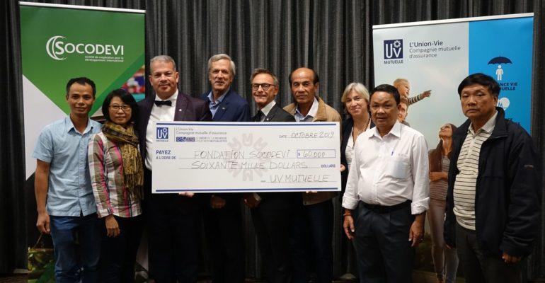 UV Mutuelle remet 60 000 $ à la Fondation SOCODEVI